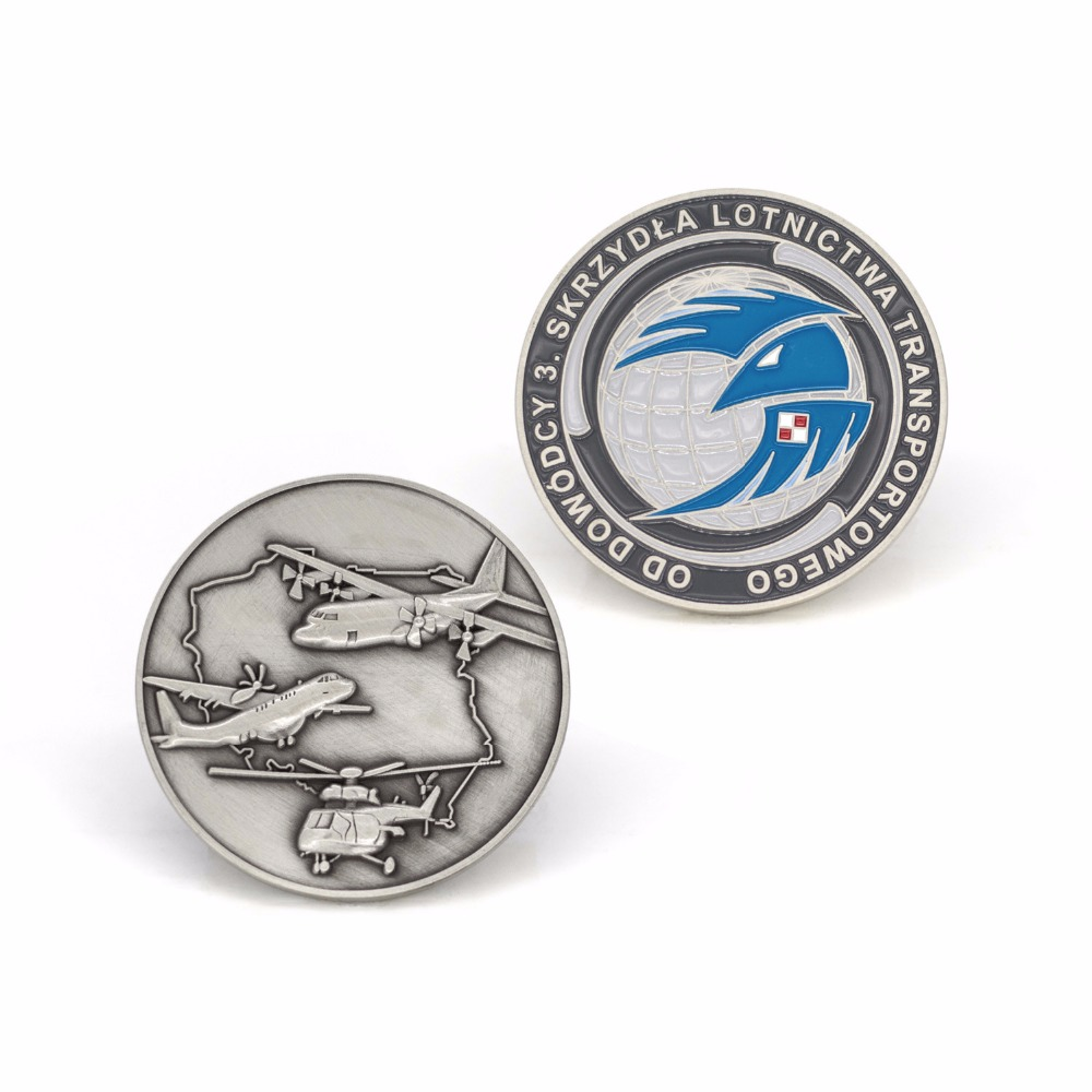Coin custom hot sale plating antique silver Coin low price custom made USA airforce military coins
