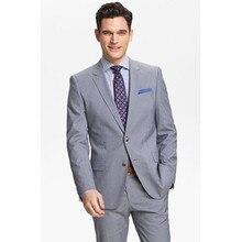 tuxedo for men business suits for groom wear light gray custom made suit dinner dress for wedding