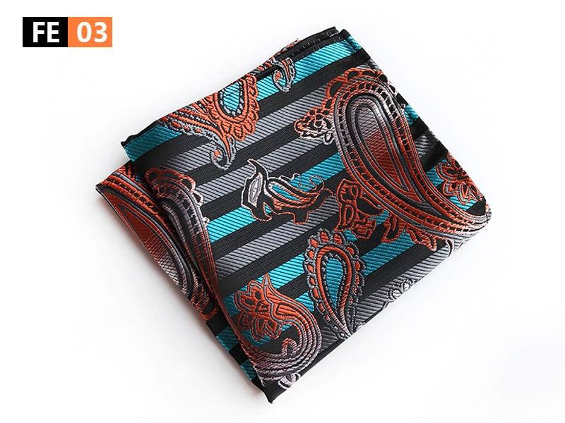 New Designer Men Pocket Square 25x25cm Fashion Handkerchief