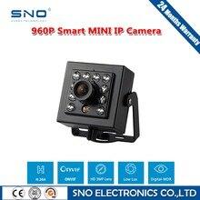 SNO Высокое Качество Металлический Корпус 1280×960 P 1,3-МЕГАПИКСЕЛЬНОЙ CMOS Ик мини Ip-камера Крытый Черный Камеры Безопасности ONVIF P2P IP CCTV Cam
