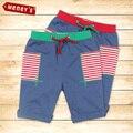 Meney Playwear de 2016 Niños de La Manera Pantalones Cortos para Niños de Verano Pantalones de Cordón para Niños Bolsillos de Playa Bebé Cortos de Color Azul Oscuro niños