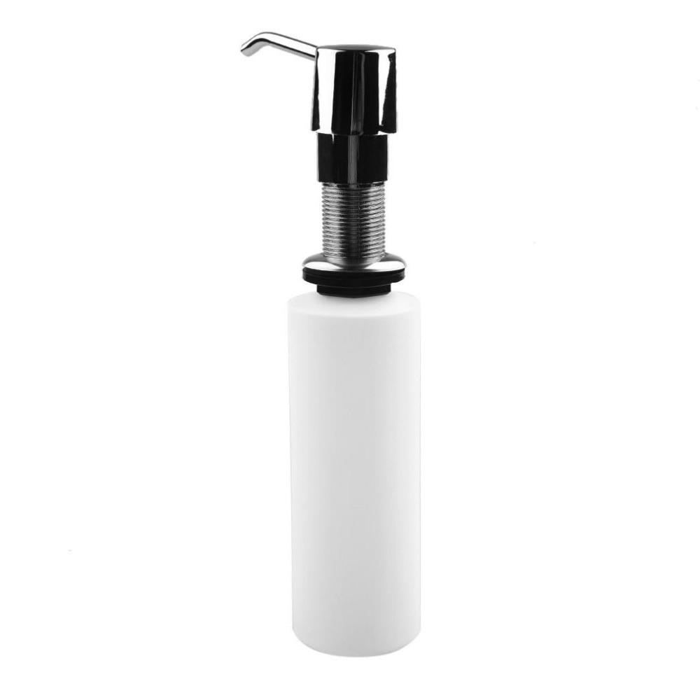 300ml Kitchen Soap Dispenser Bathroom Detergent Dispenser For Liquid Soap Lotion Dispensers Stainless Steel Head + ABS Bottle