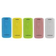 Universal LED USB 5V 5600mAh 2 x 18650 Power Bank Box Case Kit DIY Cell External Battery Charger Backup Shell For Smart Phone