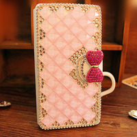 WomenBling Diamond Cover Girl Rhinestone Leather Phone Wallet Case For Samsung S6 S7 S8 Edge Plus