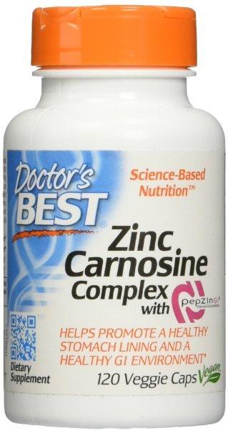 Complejo con PepZin Carnosina-zinc GI, 120 Tapas Vegetarianas, 120 Count