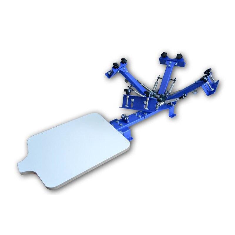 1 pc de bureau Machine D'impression D'écran Simple imprimante de bureau Simple roue Manuelle Rotatif Gaine Tissu Écran Machine D'impression - 2