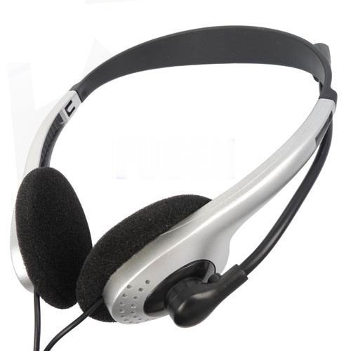 Wholesale - Free Shipping HEADPHONE HEADSET EARPHONE MICROPHONE MIC FOR PC LAPTOP