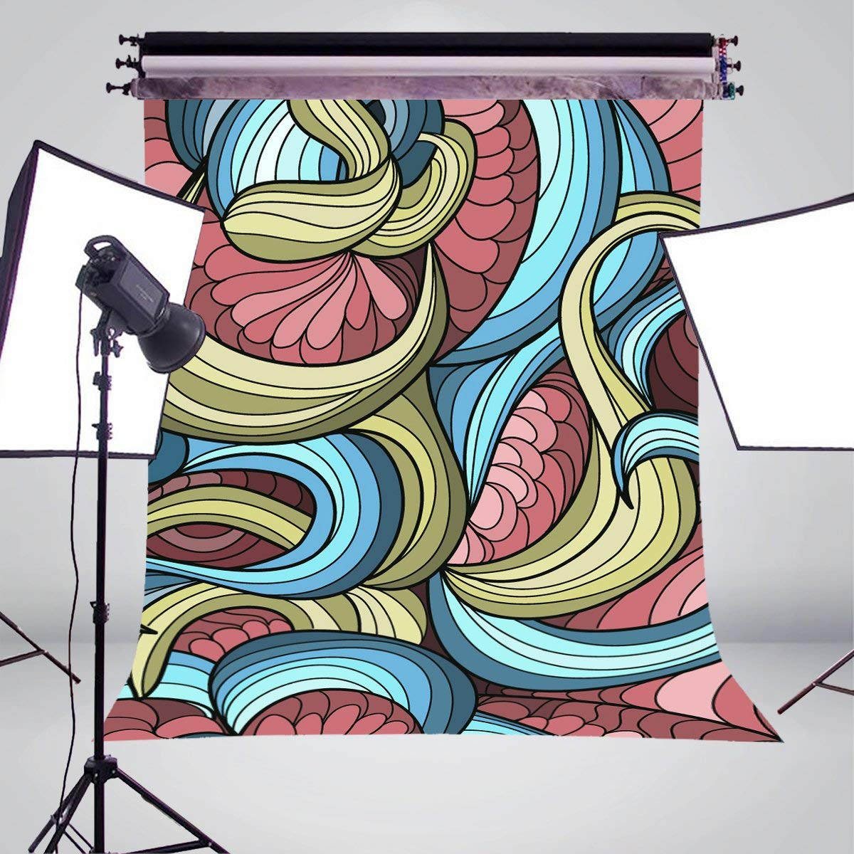 Image 3 - 3D Stereoscopic Photography Background Colorful Stripes Abstract Backdrop Photo Studio Backdrop Wall 5x7ft-in Photo Studio Accessories from Consumer Electronics
