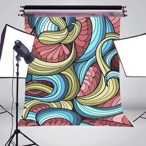 Image 3 - 3D مجسمة التصوير خلفية الملونة المشارب مجردة خلفية استوديو الصور خلفية جدار 5x7ft