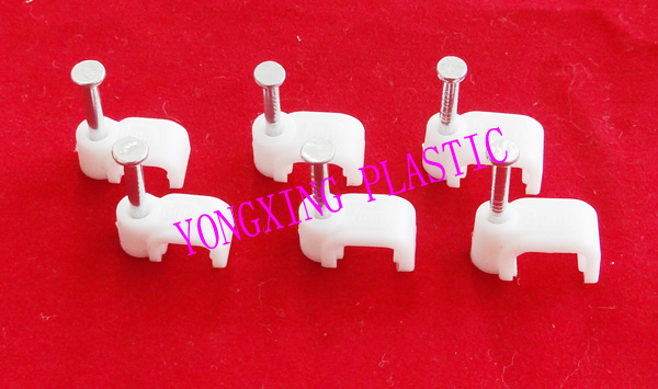 100pcs/bag 10mm flat nail clips cable clips cable tie nail cable