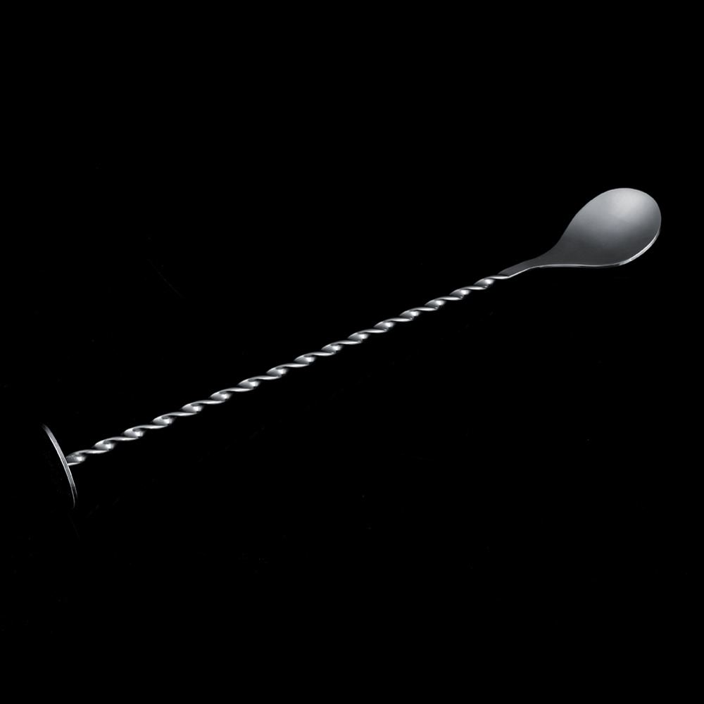 W Portable Stainless Steel Threaded Bar Spoon Cocktail Mixer Bar Puddler  Swizzle Stick Ladle Martini Mojito Bar Tool In Bar Spoons From Home U0026  Garden On ...