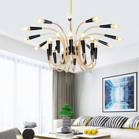 Crystal Chandelier Loft Bedroom Firework Hanging Lamp Hanglamp Modern Pendant Ceiling Lights Lighting Fixture