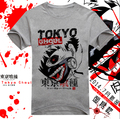 New 2017 Tokyo Ghoul T-Shirt Anime Ken Kaneki Cotton T shirt Fashion Men Women Clothes Short Sleeve Tshirt Tops Free shipping