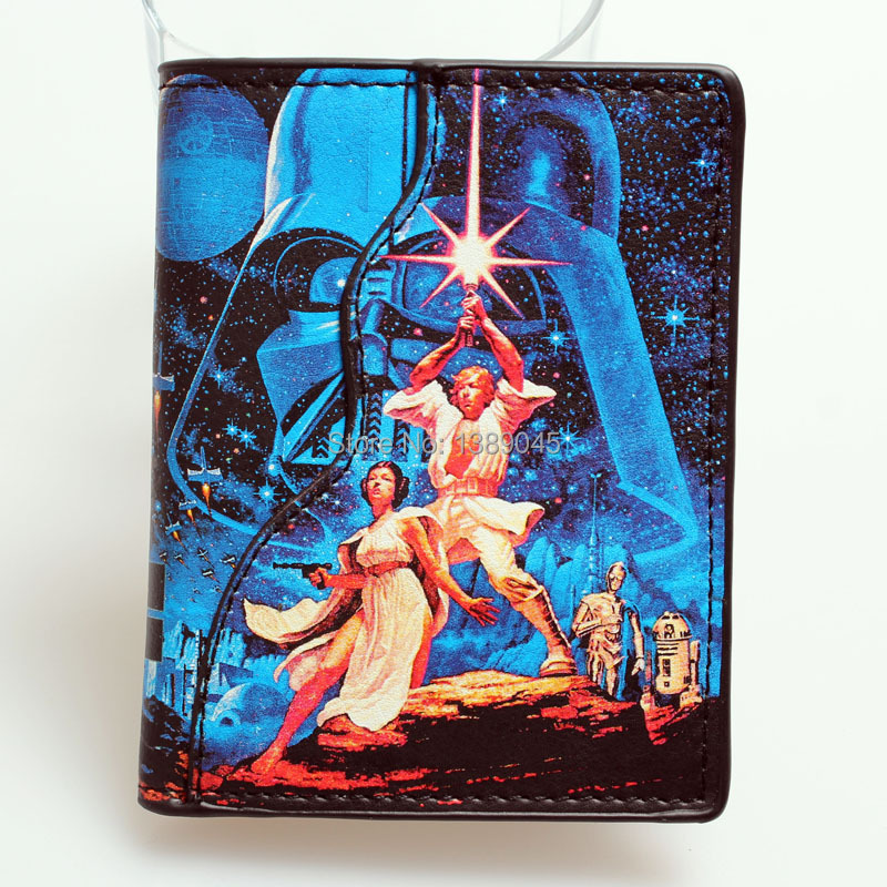 Star Wars wallet Darth Vader animated cartoon purse young students personality 2 fold vertical wallet DFT-1074 все цены