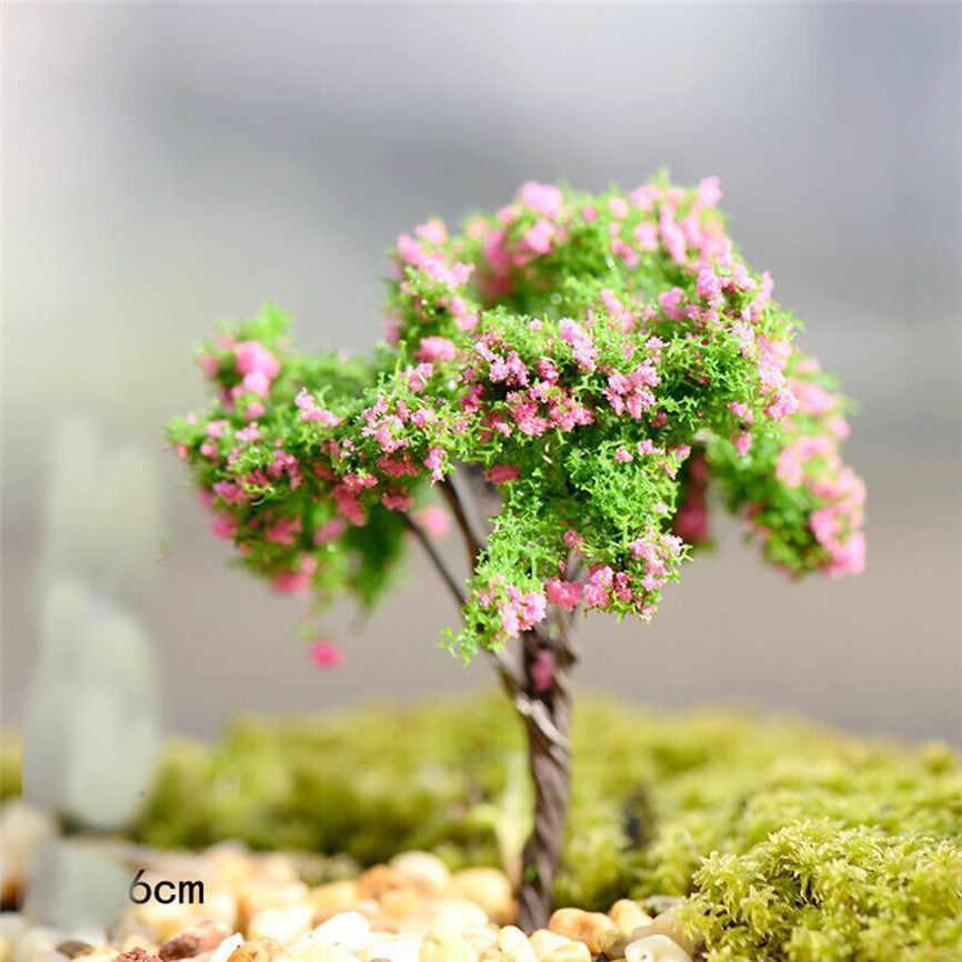 1 PC Mini Pohon Peri Taman Dekorasi Resin Kerajinan Bonsai Miniatur Micro Landscape Taman Patung Aksesoris Terarium