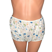 Adult Size Dinosaur Pattern Pull Up Adult Baby Plastic Nappies PVC Diaper Pants ABDL