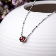 Simple Red Garnet Pendant 100% 925 Sterling Silver Necklace Women Jewelry Natural Stones Pendant Necklace Female Fine Jewelry цена в Москве и Питере