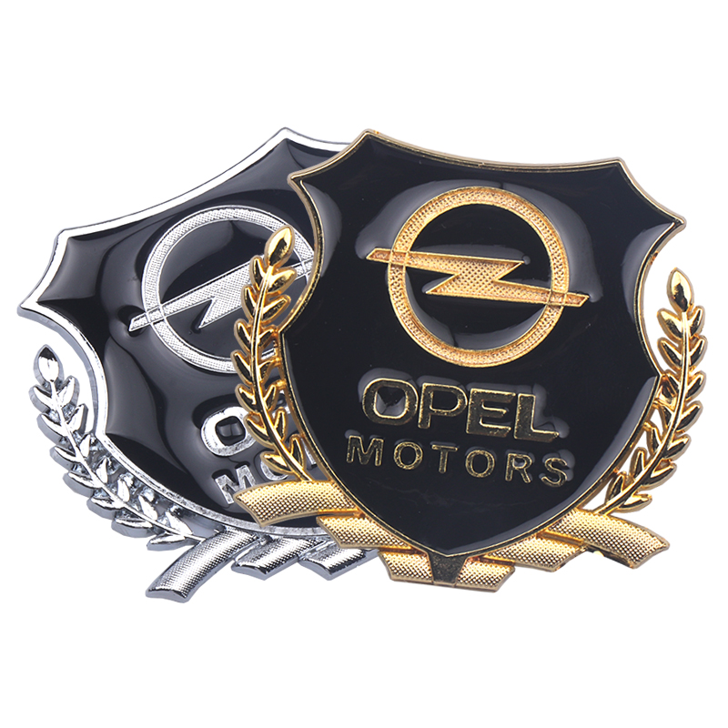 3D Sticker Auto Emblem Decal For Opel Zafira A B Astra H G J K F Mokka Corsa B C D Vectra Insignia Motors VIP Badge Car Styling