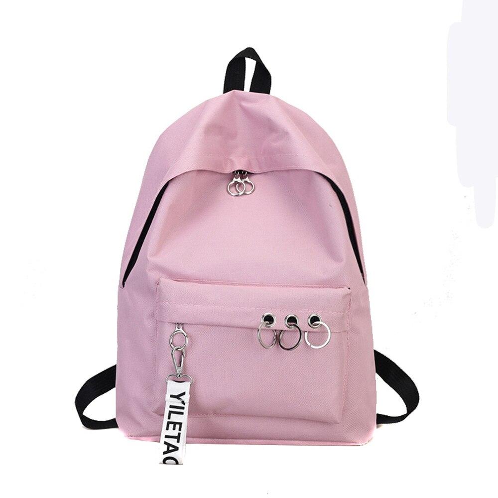 Rucksäcke Schule Taschen Für Teenager Mädchen Frauen Mode Ring Dekoration Schulter Bookbags Satchel Travel Rucksack Mochilal20 Heller Glanz Gepäck & Taschen