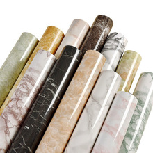 Self-adhesive wallpaper cupboard cabinet furniture renovation stickers waterproof thick PVC marble pattern