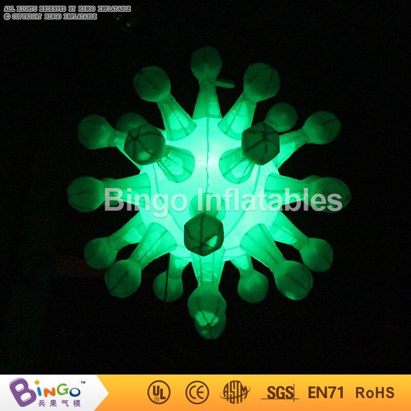 Trasporto Libero decorazioni Festa di Compleanno bambini Tipo Colori Changable Illuminazione Gonfiabile fiocco di neve Per La Decorazione giocattolo - 2