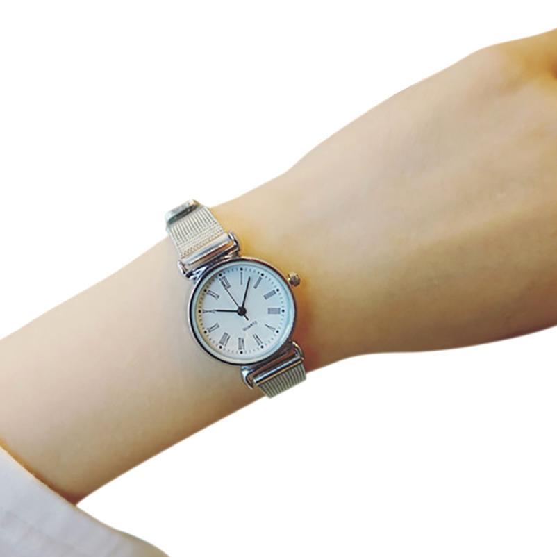 Small Dial Delicate Quartz Analog Watch Luxury Business Women Wrist Wat