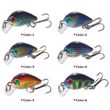 1pcs Beauty Little Fat With Hook Rock Road Lure 2.5cm/1.8g Floating Water Sub-bait Free Shipping