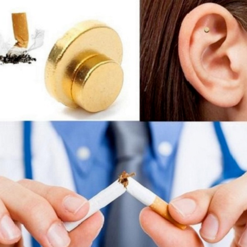 2PCS Anti-Smoke Magnetic Patch - Magnet Auricular Quit Smoking Anti-Smoke Therapy