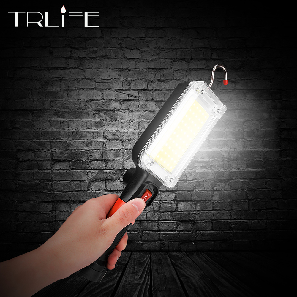 4000LM Portable Lantern LED Work Light Hook Magnet Camping Lamp COB USB Rechargeable 18650 Flashlight Torch Waterproof Highlight