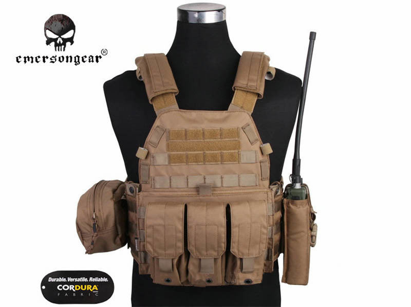 EMERSON GEAR LBT6094A Style Vest Pouches Airsoft Painball Military Army Combat Gear Cordura Coyote Brown Emerson Hunting Vest