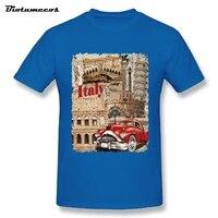 Marque T shirt Hommes Chemises Italie Construction Rouge Rétro Bulle De Voiture Imprimé col Rond T-shirts Chemise Top Vêtements MTCC079