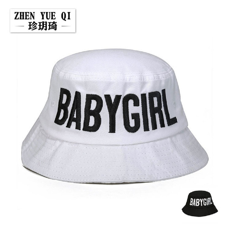 High-grade Cotton Spring Autumn Korean Fisherman Bucket Hats Lady Street  Basin Hat Letter Babygirl d769dd0f5888
