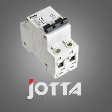 C45N 2 pole 3A 400V~ C type mini circuit breaker mcb Mounting 35mm din rail Breaking Capacity 6KA