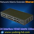 HDMI Smart Matrix 24 Interface Network Matrix HDMI Extender over Ethernet With IR HDMI Extender Over CAT5/6