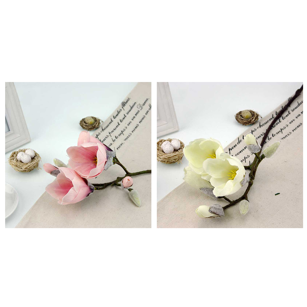 Cheap Sale Simulation Silk Flowers Magnolia Artificial Flowers Art
