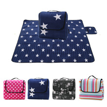 130*170cm Foldable Outdoor Camping Mat Picnic Pad Blanket Baby Play Crawling Waterproof Beach