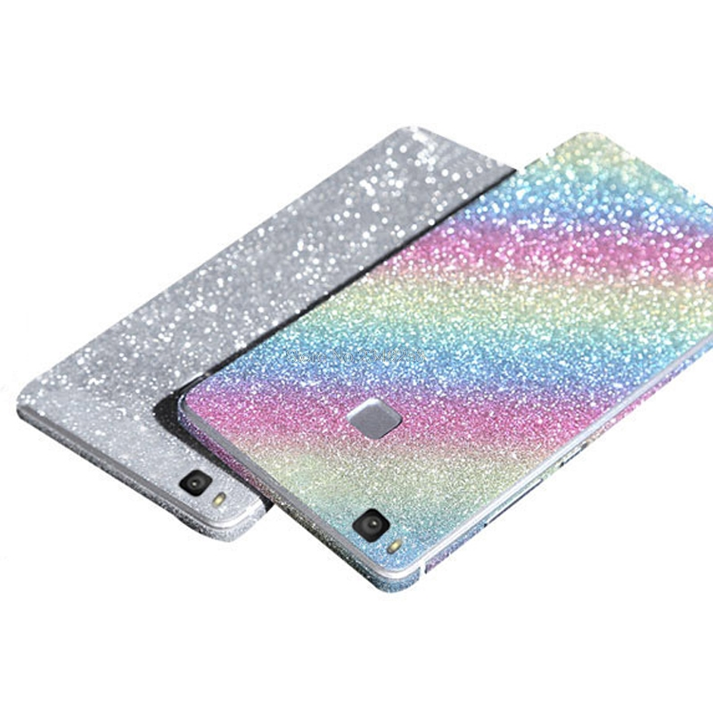 Full Body Protection Glitter Bling Sticker Case For Huawei P9 Lite Coque Shining Skin Cover For P9Lite