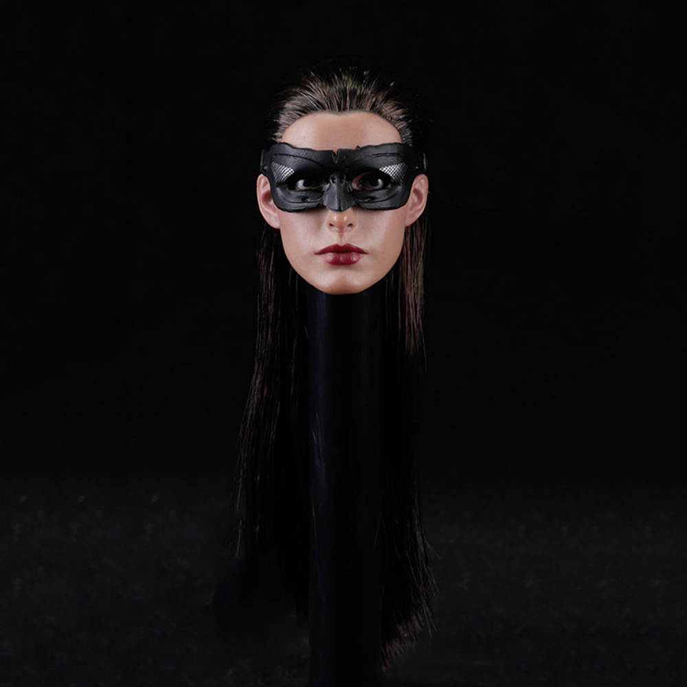 1/6 Catwoman Batman Anne Hathaway Head Sculpt with Removable eyemask for 12 Inches Female Bodies 1 6 scale the game of death bruce lee head sculpt and kungfu clothes for 12 inches figures bodies