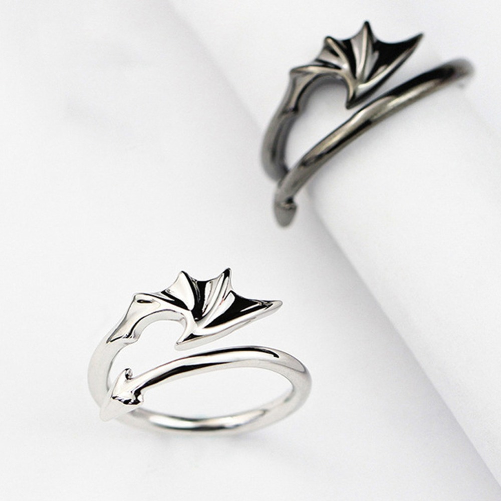 Fashion Enamel Couple Rings Stainless Steel Rings Romantic Angel Devil Wings Rings Engagement Wedding Couples Rings Buy At The Price Of 0 89 In Aliexpress Com Imall Com