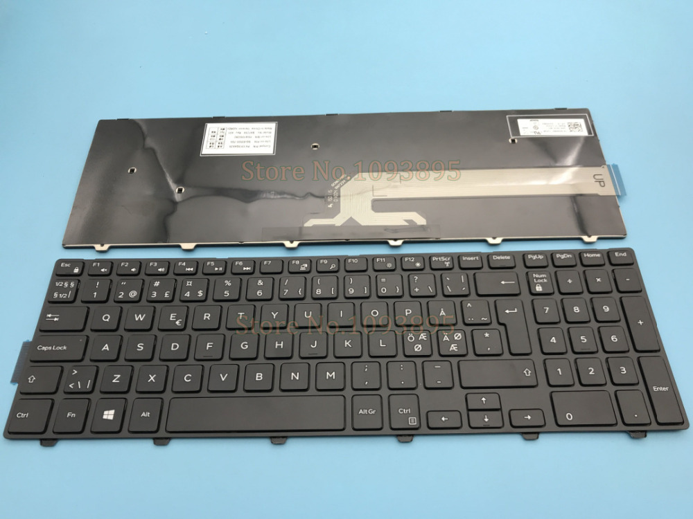 new keyboard for dell inspiron 17 5749 5748 5758 5759 5755 17 5000 17 5748 17 5749 swedish