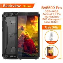 "Blackview BV5500 Pro Original IP68 Waterproof 5.5 Rugged Smartphone 4400mAh 3GB+16GB  Android 9.0 Pie 4G Outdoor Mobile Phone"""