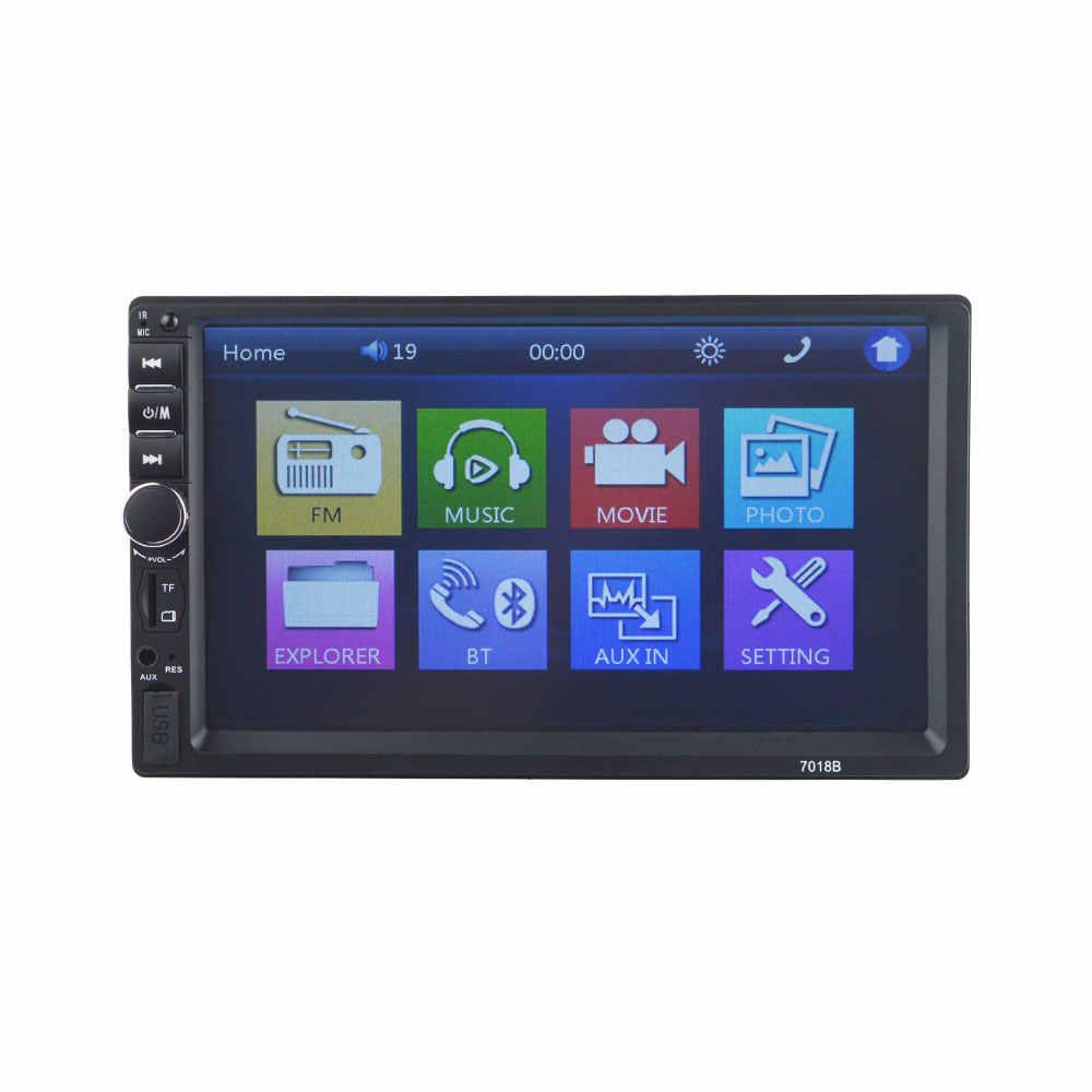 """Autoradio 2 Din 一般的な車のモデル 7 """"タッチスクリーン Bluetooth オーディオリアビューカメラ 7018B ミラーリンク AUX"""
