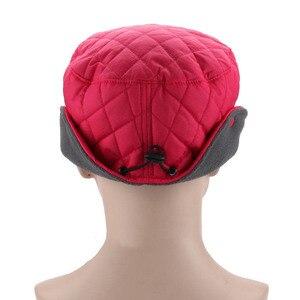 Image 3 - Fibonacci 2018 novo chapéu de inverno feminino à prova de vento blusão tecido proteção de ouvido quente mais veludo grosso boné de beisebol