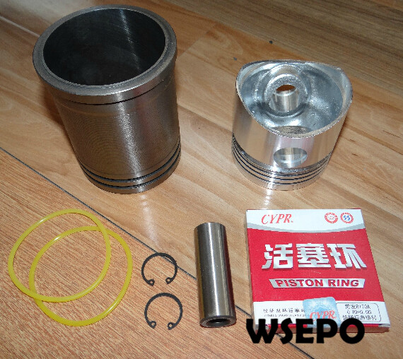 OEM Quality! Cylinder Liner Sleeve Piston Kit(6 PC Kit)for R175 5HP 4 Stroke Small Water Cooled Diesel Engine 38mm cylinder barrel piston kit