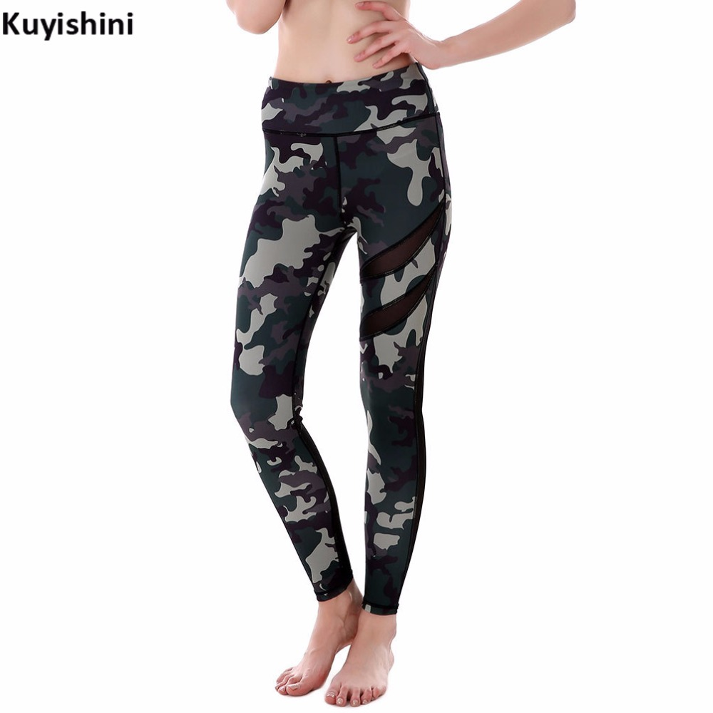 autumn spring oversize xxl 3xl 4xl sexy mesh leggings women camouflage army green camo legging casual trousers with lace mesh