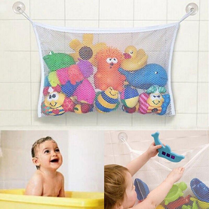 1PCS Creative Folding Eco-Friendly Mesh Bag Child Bath Bag Net Suction Cup Baskets Packing Organizers
