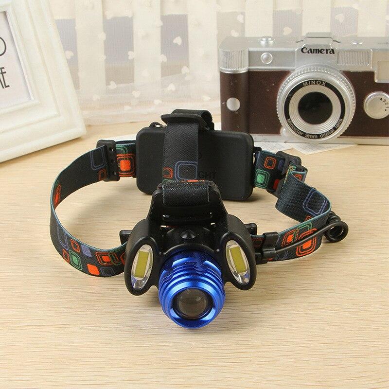 8000lm T6 + 2 * COB Światła Reflektorów zoomable Niebieski - Przenośne oświetlenie - Zdjęcie 2
