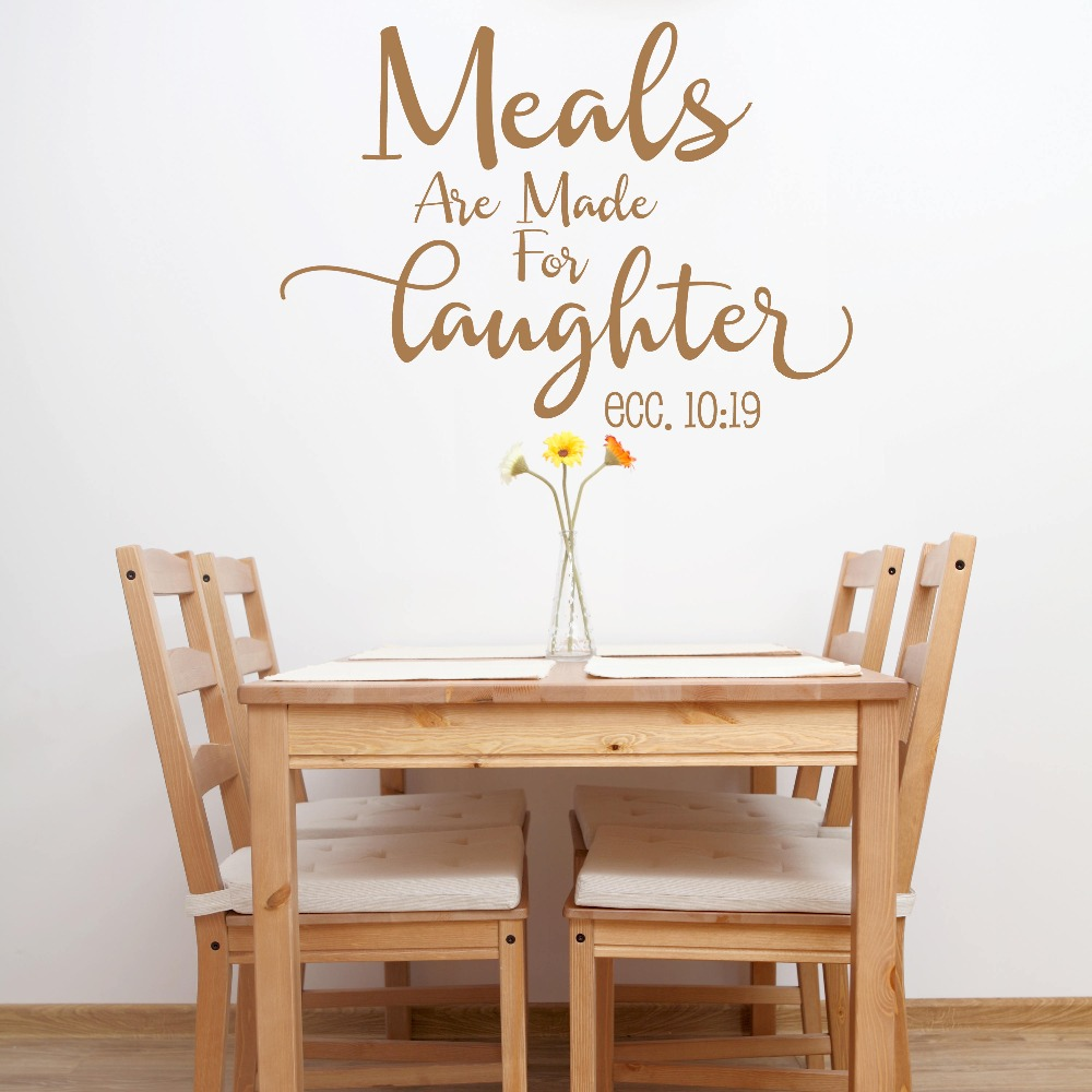 Us 7 33 26 Off Meals Are Made For Laughter Quotes Wall Decal Kitchen Vinyl Wall Stickers Removable Family Decor Ecc 10 19 Home Art Mural Sy28 In