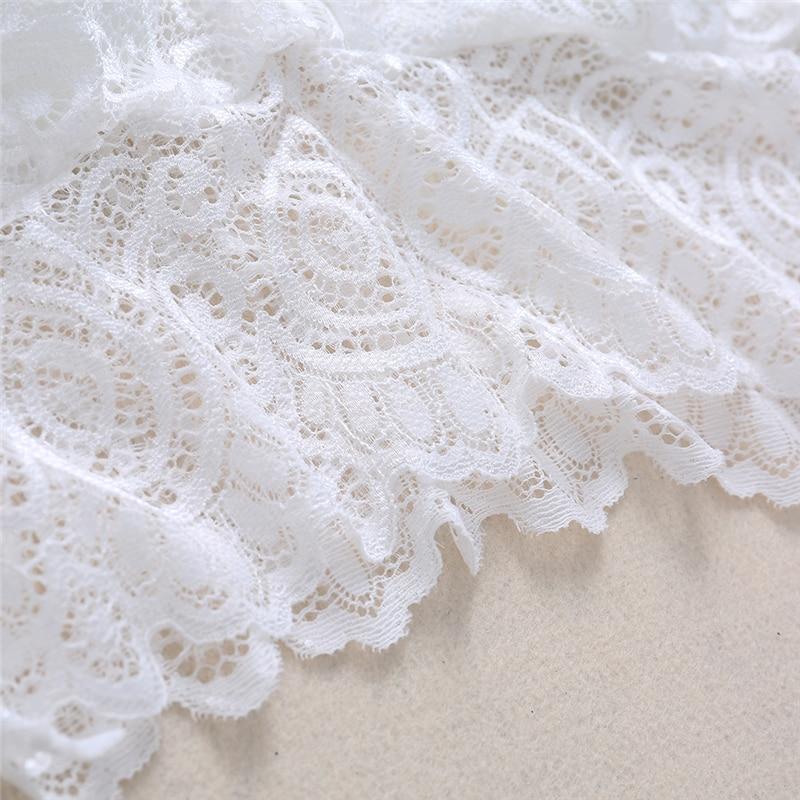 Klv New Sexy Women Lace Crochet Bralette Bralet Bra Bustier Crop Top
