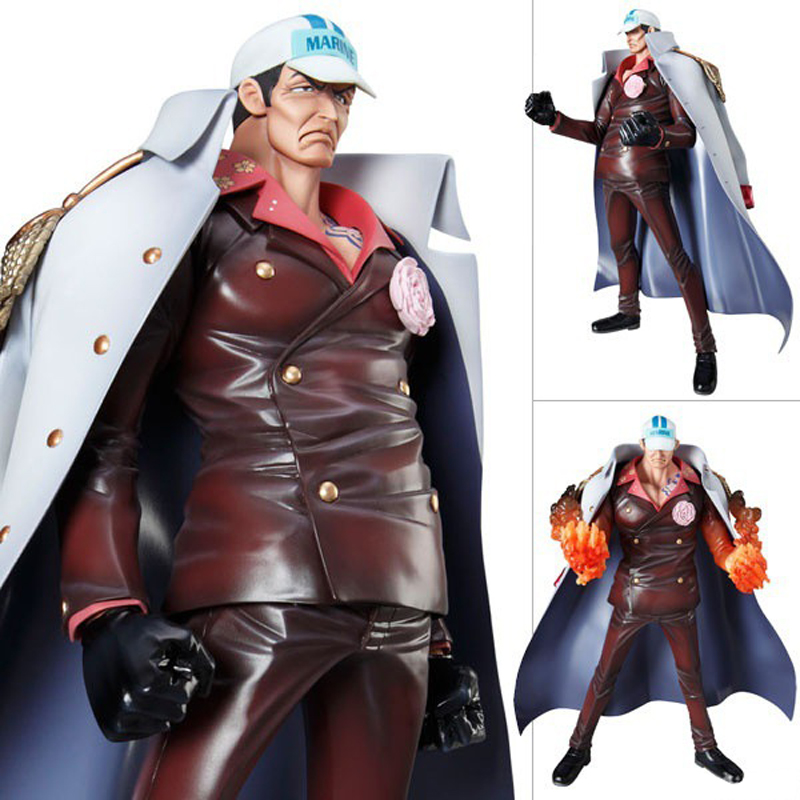 Free Shipping 11 One Piece Anime P.O.P DX Navy Admiral Sakazuki Boxed 27cm PVC Action Figure Collection Model Doll Toys Gift pop one piece sabo with devil fruit pvc action figure toys collective doll 10 25cm free shipping